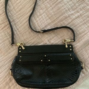 Rebecca Minkoff Bags - Rebecca Minkoff Black leather clutch/cross body